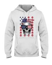 Skull USA Flag T5TO Hooded Sweatshirt thumbnail