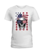 Skull USA Flag T5TO Ladies T-Shirt thumbnail