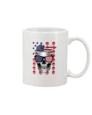 Skull USA Flag T5TO Mug thumbnail