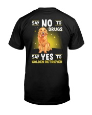 DOGS - GOLDEN RETRIEVER - DRUGS Classic T-Shirt back