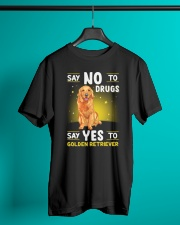 DOGS - GOLDEN RETRIEVER - DRUGS Classic T-Shirt lifestyle-mens-crewneck-front-3