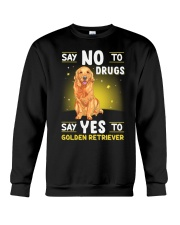 DOGS - GOLDEN RETRIEVER - DRUGS Crewneck Sweatshirt thumbnail