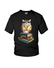 Owl and Autism Youth T-Shirt thumbnail