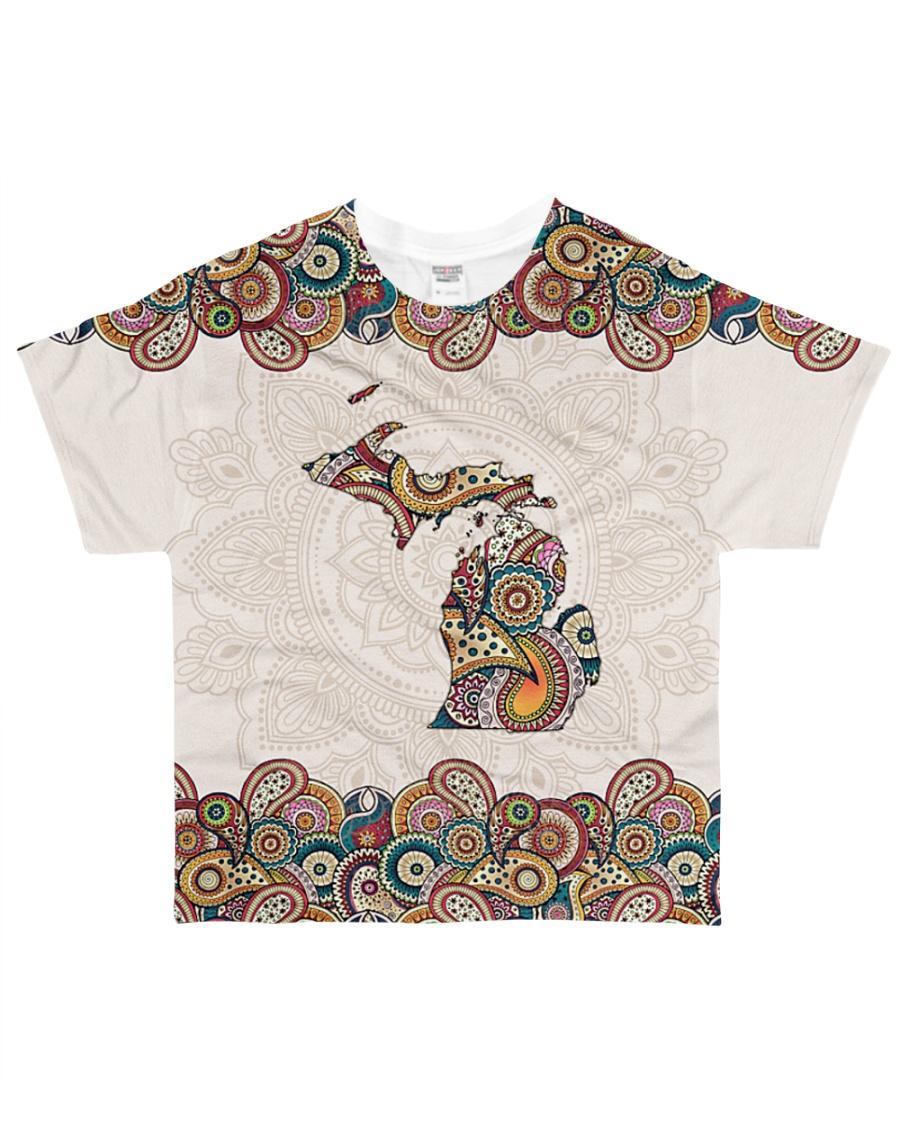 Michigan Mandala Pattern T5TO All-over T-Shirt