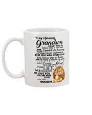Family To My Grandson I want to tell you  Mug back