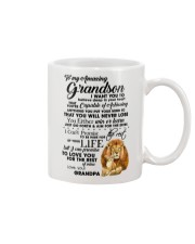 Family To My Grandson I want to tell you  Mug front