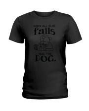 Hug Dog Ladies T-Shirt thumbnail
