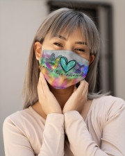 Mermaid Peace Love T827 Cloth face mask aos-face-mask-lifestyle-17