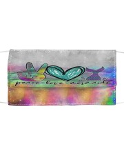 Mermaid Peace Love T827 Cloth face mask front