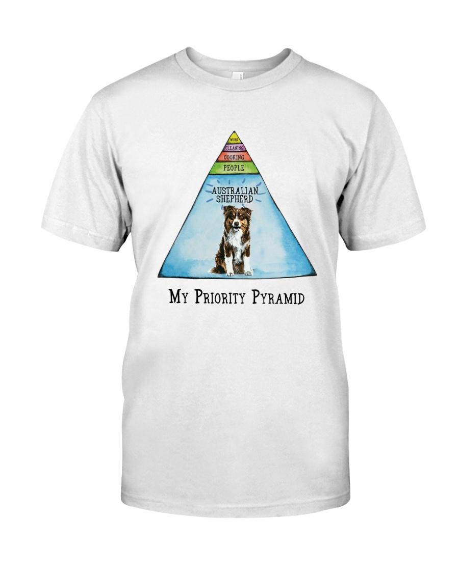 Australian Shepherd Priority Pyramid Classic T-Shirt