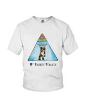 Australian Shepherd Priority Pyramid Youth T-Shirt thumbnail