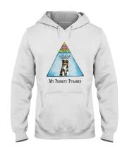 Australian Shepherd Priority Pyramid Hooded Sweatshirt thumbnail