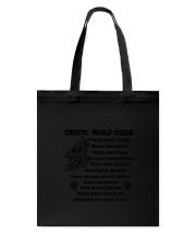 Celtic Wolf Code Tote Bag thumbnail