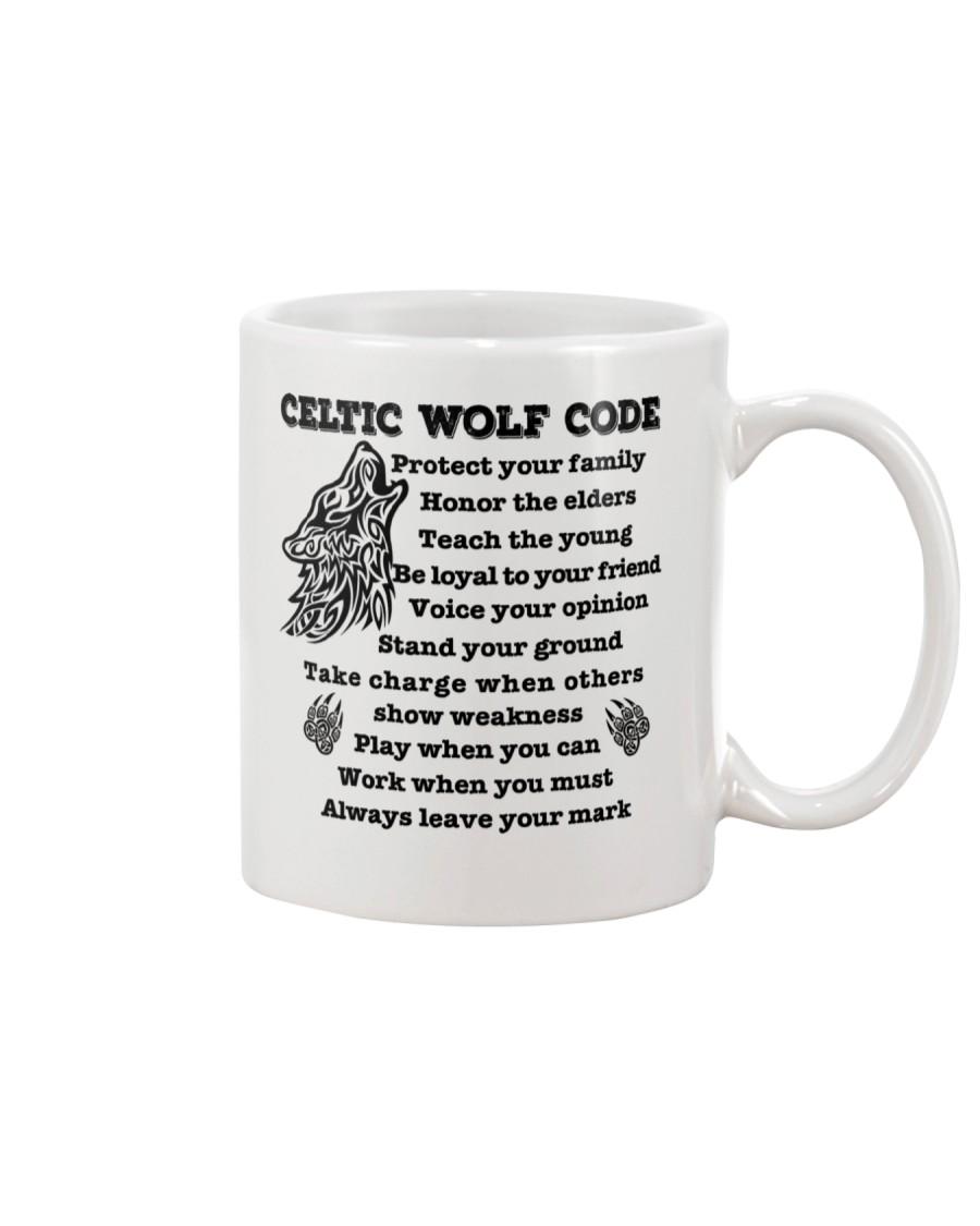 Celtic Wolf Code Mug