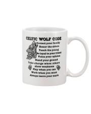 Celtic Wolf Code Mug front