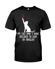 Cat Stay Tonight Classic T-Shirt front