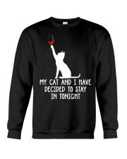 Cat Stay Tonight Crewneck Sweatshirt thumbnail