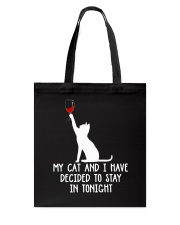 Cat Stay Tonight Tote Bag thumbnail