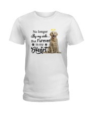 Golden Retriever Forever In My Heart Ladies T-Shirt thumbnail