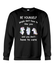 Be Yourself  Unicorn Crewneck Sweatshirt thumbnail