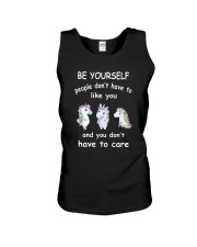 Be Yourself  Unicorn Unisex Tank thumbnail