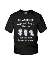 Be Yourself  Unicorn Youth T-Shirt thumbnail