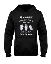 Be Yourself  Unicorn Hooded Sweatshirt thumbnail