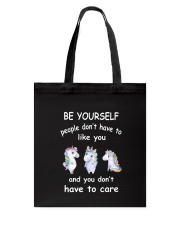 Be Yourself  Unicorn Tote Bag thumbnail