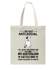 Australian Cattle Dog Anti-social Tote Bag thumbnail