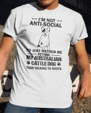 Australian Cattle Dog Anti-social Classic T-Shirt apparel-classic-tshirt-lifestyle-28