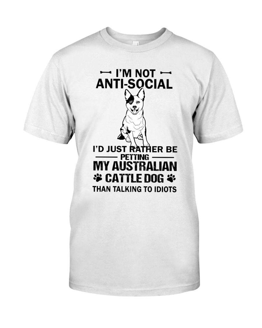 Australian Cattle Dog Anti-social Classic T-Shirt