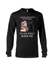 Black Cat and Book Long Sleeve Tee thumbnail