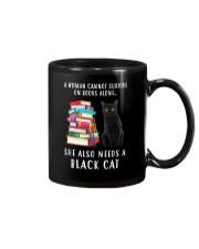 Black Cat and Book Mug thumbnail