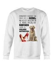 Golden Retriever and shoes Crewneck Sweatshirt front