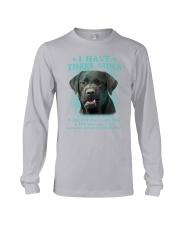 DOGS - LABRADOR RETRIEVER - THREE SIDES Long Sleeve Tee thumbnail