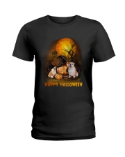 Bulldog Halloween Ladies T-Shirt thumbnail