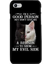 Cat - Don't make me show my evil side Phone Case thumbnail