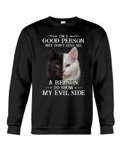 Cat - Don't make me show my evil side Crewneck Sweatshirt front