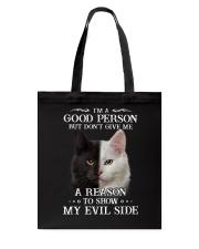 Cat - Don't make me show my evil side Tote Bag thumbnail