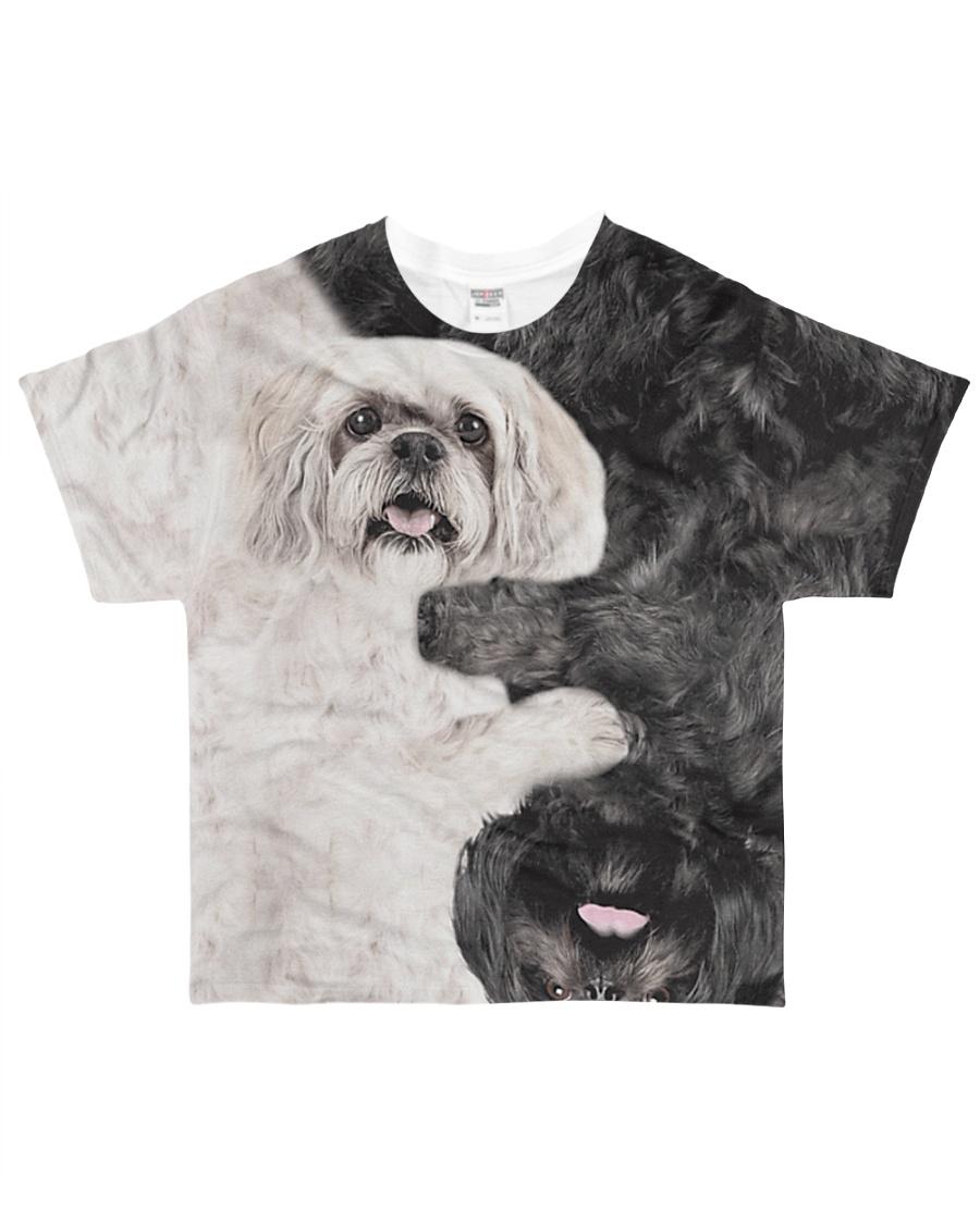 Lhasa apso - BLACK WHITE All-over T-Shirt