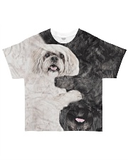 Lhasa apso - BLACK WHITE All-over T-Shirt front