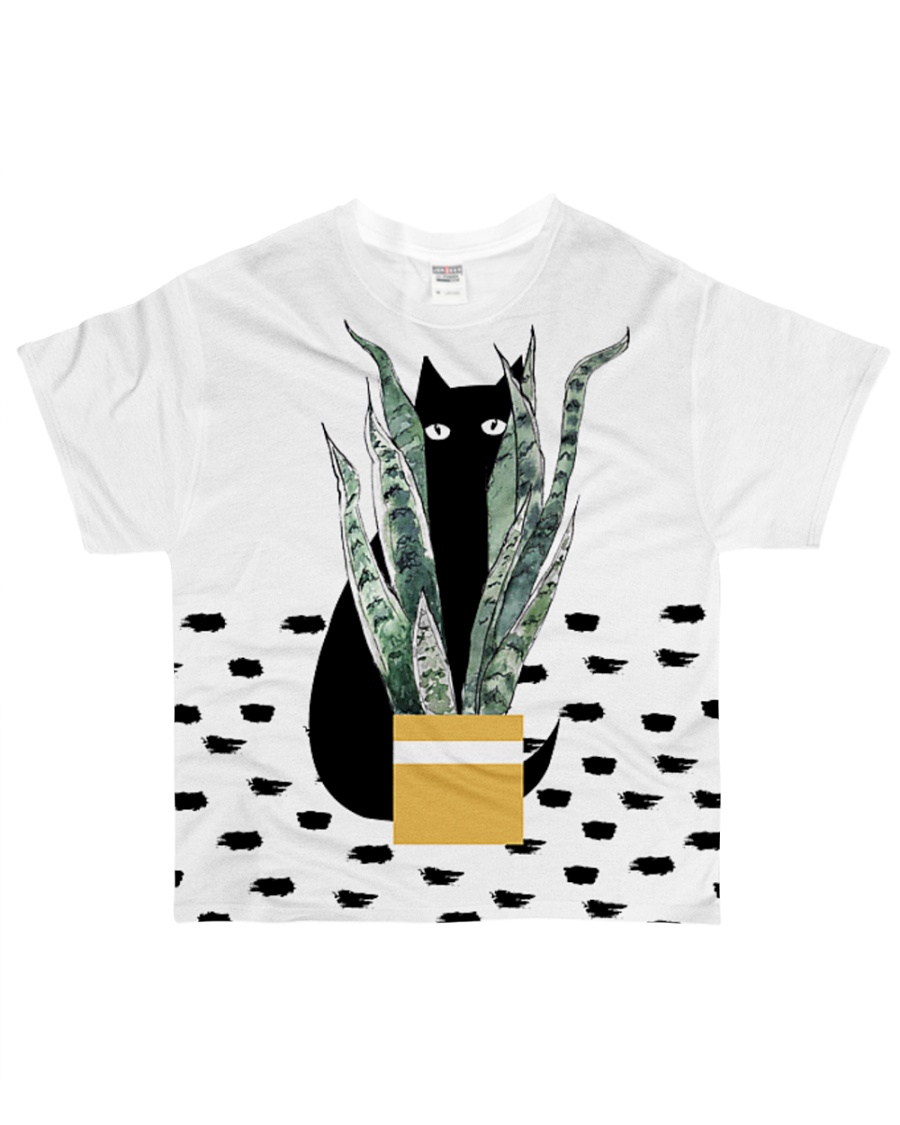 Cat Hiding All-over T-Shirt