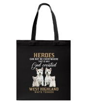 West Highland White Terrier Heroes Tote Bag thumbnail