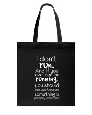 Running Chasing Me Tote Bag tile