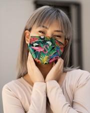 Tropical Bird Flamingo H30740 Cloth face mask aos-face-mask-lifestyle-17