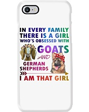 German Shepherd And Goat Phone Case thumbnail