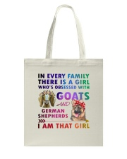 German Shepherd And Goat Tote Bag thumbnail