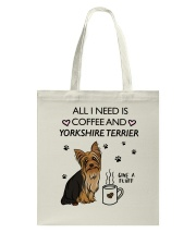 Coffee and Yorkshire Terrier Tote Bag thumbnail