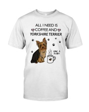 Coffee and Yorkshire Terrier Classic T-Shirt thumbnail