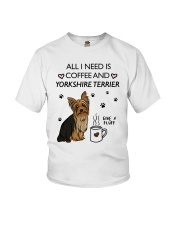 Coffee and Yorkshire Terrier Youth T-Shirt thumbnail